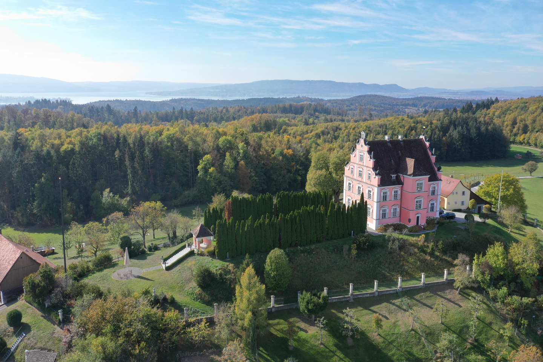 Schloss Freudental-Luftaufnahme