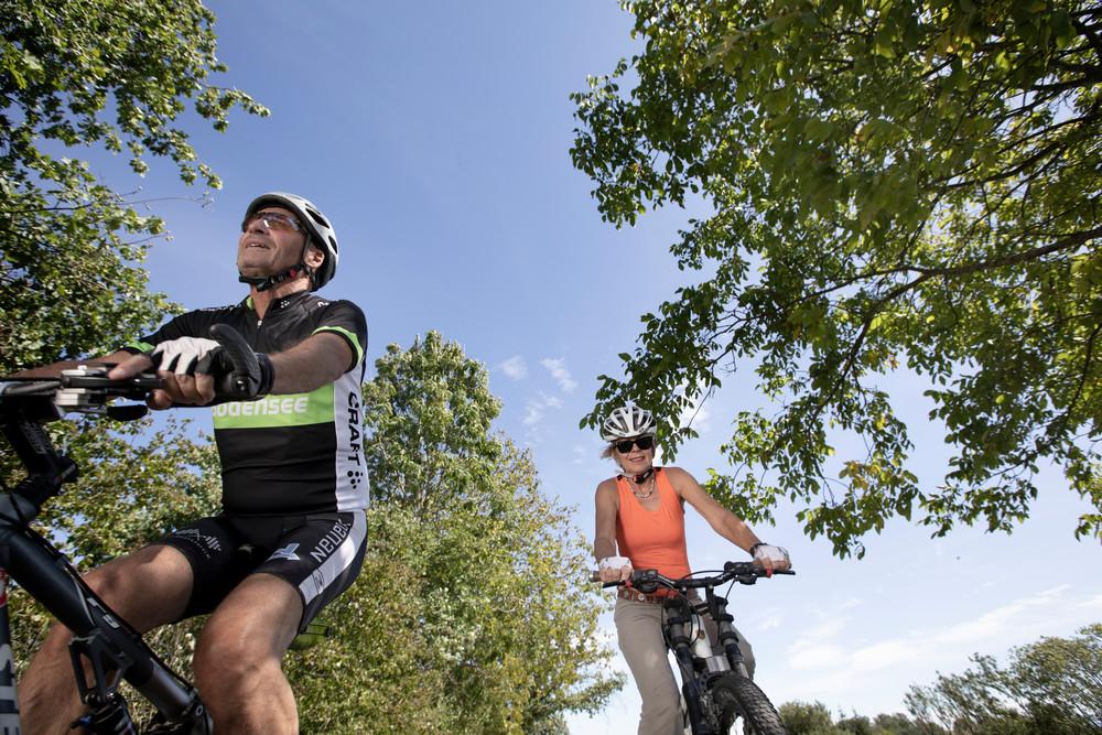 Radfahrer in Allensbach